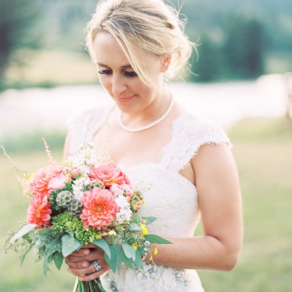 Jenny  & Daniel's Big Sky Wedding Flowers