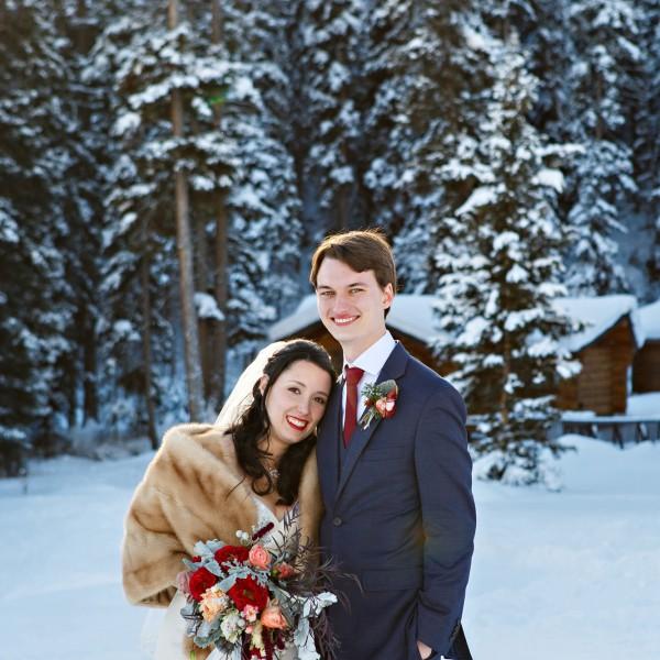 Krystal + Wyatt | Big Sky Winter Wedding