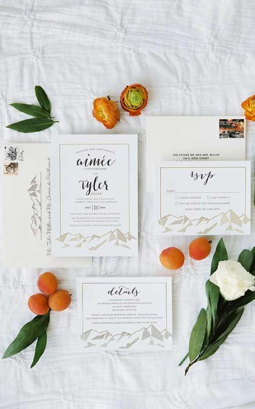 Aimee + Tyler | Apricot Orange