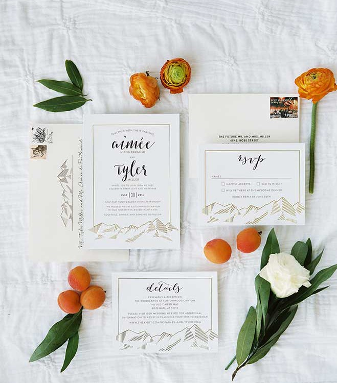 Aimee + Tyler | Apricot Orange